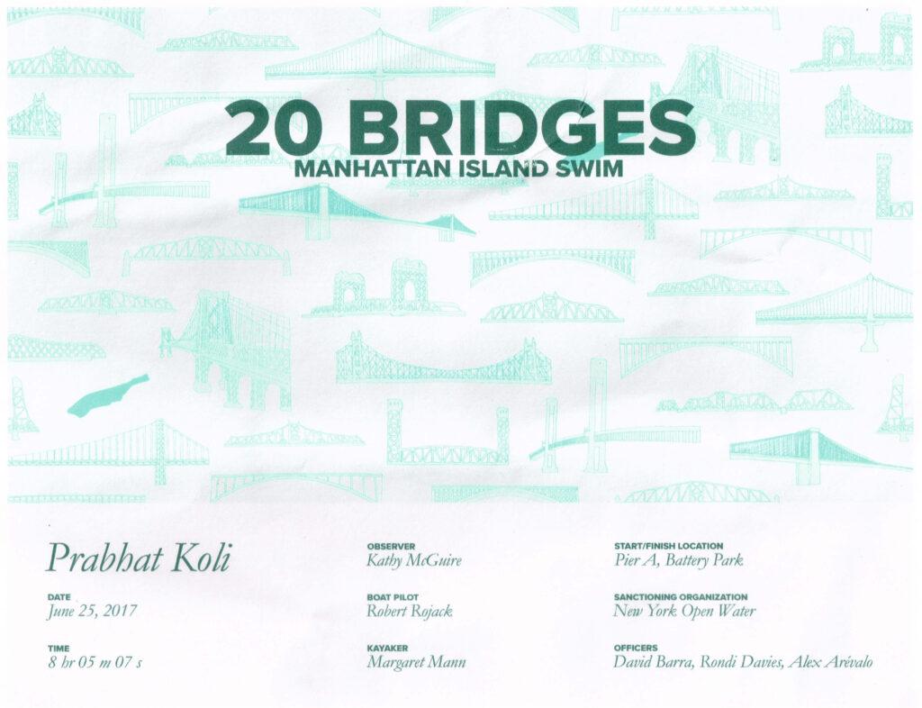 20 BRIDGES SWIM (MANHATTAN SWIM), NEW YORK, UNITED STATES OF AMERICA (USA)