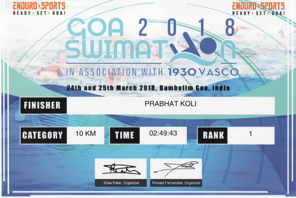 ENDURO SPORTS ORGANIZE GOA SWIMMETHON SWIM RACE